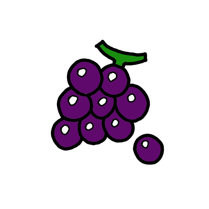 How To Draw Grapes Step By Step Easy Drawing Guides Drawing Howtos