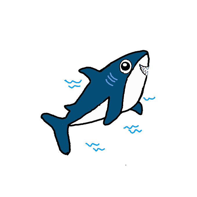 How To Draw A Shark Step By Step Easy Drawing Guides Drawing Howtos