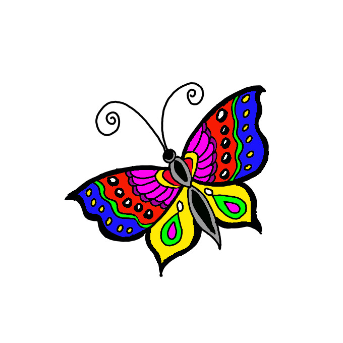 How To Draw A Butterfly Step By Step Easy Drawing Guides Drawing Howtos