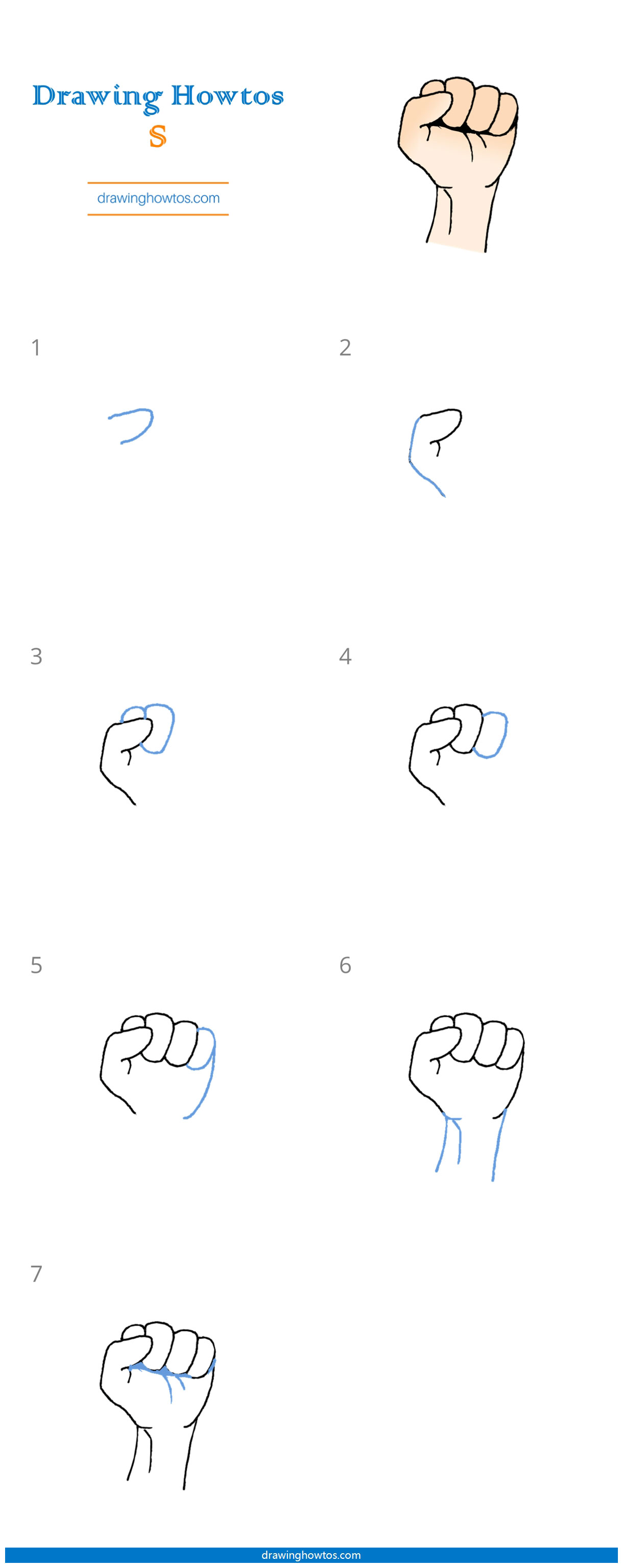 How To Draw A Fist Step By Step Easy Drawing Guides Drawing Howtos
