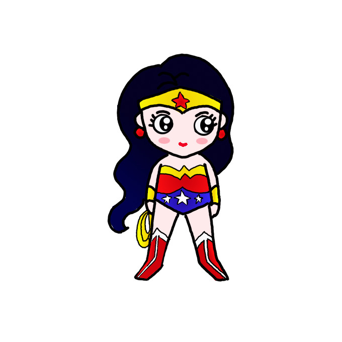 How To Draw Wonder Woman Step By Step Easy Drawing Guides Drawing Howtos