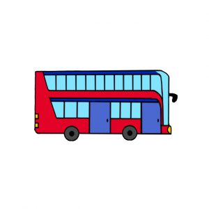 How to Draw a Double-Decker Bus