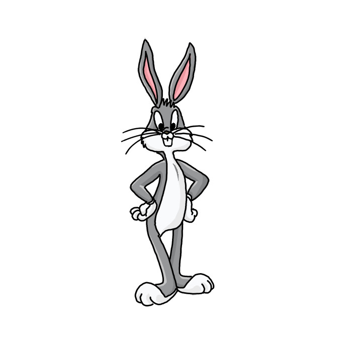 How To Draw A Bugs Bunny Step By Step Easy Drawing Guides Drawing Howtos