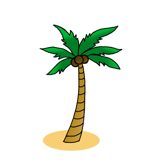 How To Draw A Coconut Tree Step By Step Easy Drawing Guides Drawing Howtos