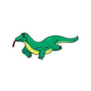 How to Draw a Komodo Dragon