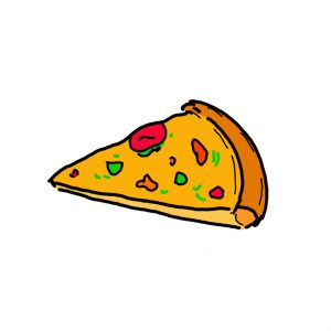 How to Draw a Piece of Pizza