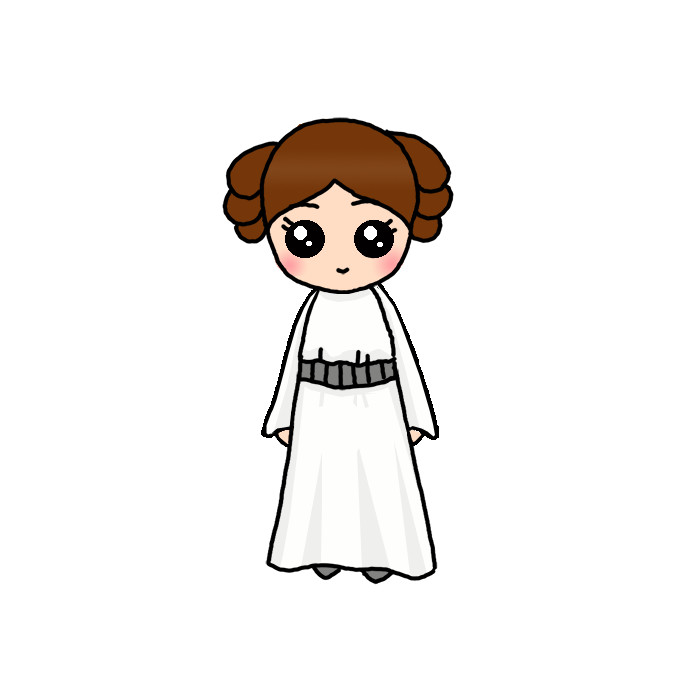 How To Draw Princess Leia Step By Step Easy Drawing Guides Drawing Howtos