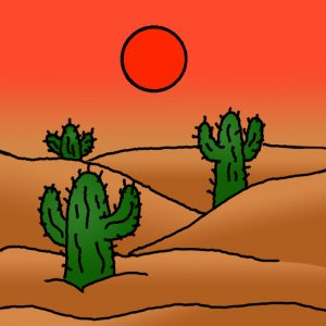 How to Draw a Desert Landscape