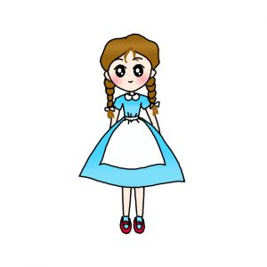 How to Draw Dorothy from Wizard of OZ