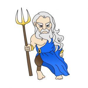How to Draw Poseidon