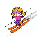 How to Draw Skiing
